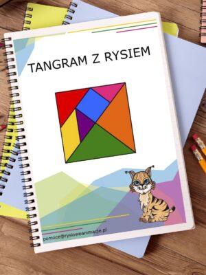 tangram z rysiem pomoce naukowe dla dzieci
