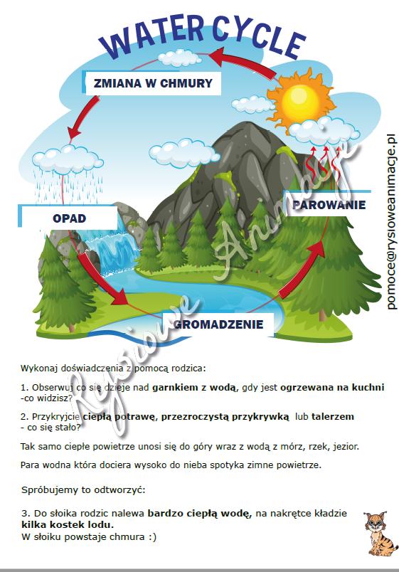 karty pracy obieg wody w przyrodzie