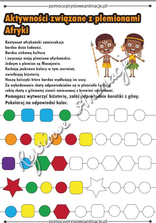 karty pracy plemiona afryki