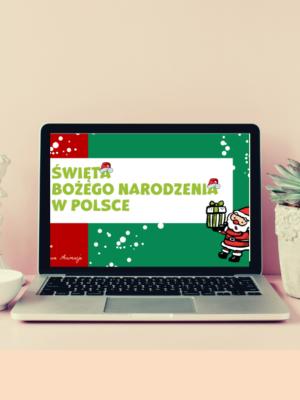 Czerwony Boze Narodzenie Handel Post na Facebook 300x400