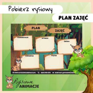 plan lekcji dla dzieci